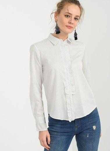 Fırfır Detaylı Gömlek-People By Fabrika